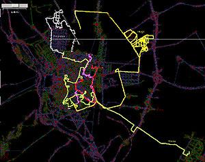 Mapa con las trazas de OSM.