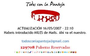 Sitio web de 'Todos con la Pantoja'.