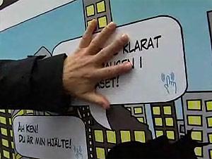 Un vídeo muestra cómo un gran panel de papel puede reproducir sonidos al tocarlo.