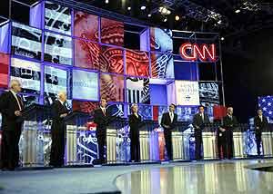Debate demócrata en CNN (Foto:EFE)