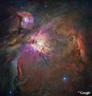 Nebulosa de Orión. (Foto: Google/DSS Consortium Image NASA/STScl)