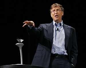 El fundador de Microsoft Bill Gates presenetna la plataforma de comunicaciones unificada. (Foto: AFP)