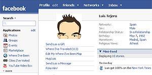 Imagen de un perfil de Facebook