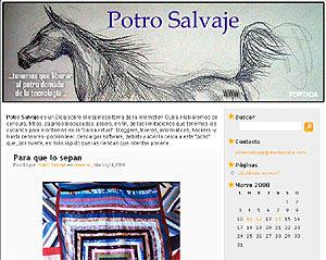 Pantalla del blog cubano 'Potro Salvaje'.