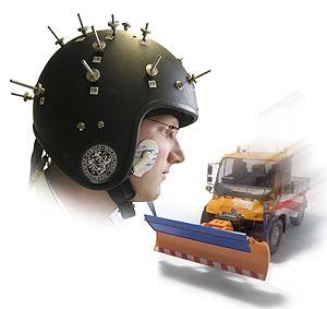 Imagen del casco utilizado en la prueba.