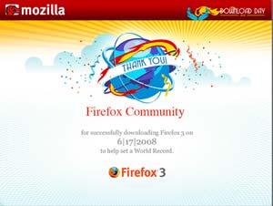 Mozilla celebra el récord de Firefox 3. (Foto: Mozilla)