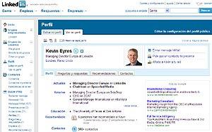 Imagen del perfil del director de Linked In en Europa, Kevin Eyres.
