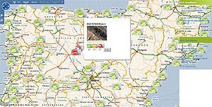 Mapa de España de 'Eye on Earth'. (Foto: Eyeonearth.eu)