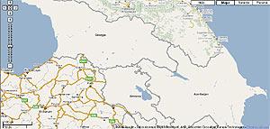 Mapas de Georgia en Google Maps.