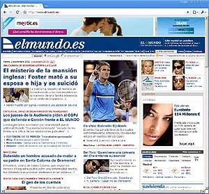 La portada de elmundo.es, vista con Google Chrome.