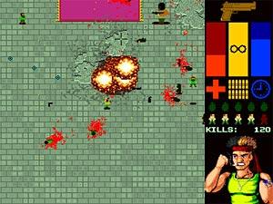 El 'héroe americano', en una pantalla del juego 'Masacre Musulmana'. (Foto: kotaku.com)