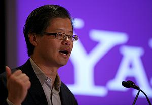 El consejero delegado de Yahoo!, Jerry Yang, durante la presentación del sistema de publicidad Atp. (Foto: AP)