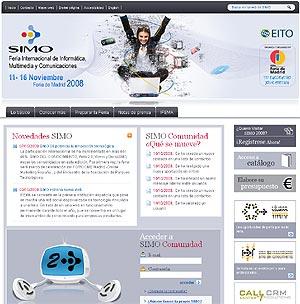 Captura del sitio web de SIMO.