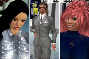 El triángulo amoroso en Second Life, en un montaje de la publicación Metro.co.uk