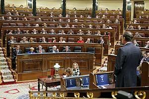 Vista del hemiciclo en la última sesión de control al Gobierno. (Foto: EFE)