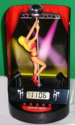 Imagen del 'Pole Dancer Alarm Clock'. (Foto: Stupid.com)