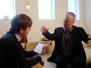 David Kirk, en un momento de la entrevista. (Foto: N. N.)