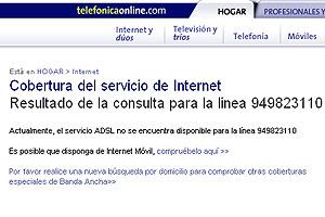 Ni siquiera el teléfono del ayuntamiento tiene cobertura de ADSL.