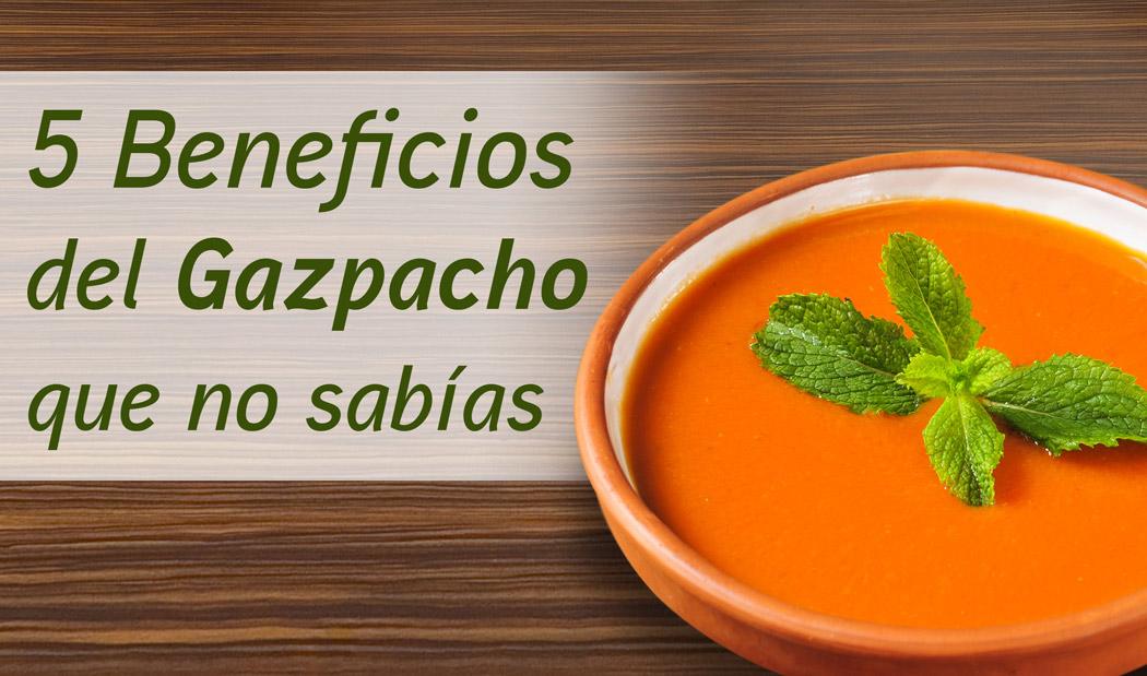 El gazpacho es bueno para adelgazar