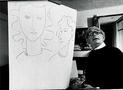"""De Hory y su obra. La revista """"Time"""" le retrató así, en 1969, en su casa de Ibiza, donde el falsificador pasó los últimos 16 años de su vida."""