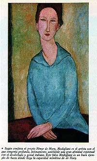 Modigliani. Era el artista con el que le unía una mayor afinidad espiritual y artística. Este falso Modigliani es un buen ejemplo de la capacidad mimética de Elmyr de Hory.