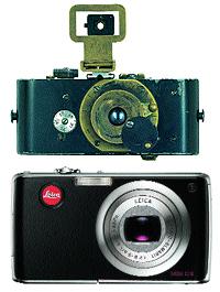 Ur-Leica I (1912-13) y Leica C-LUX (2006)