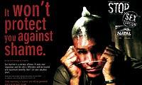 'No te puede proteger de la vergüenza', reza el lema de esta campaña contra el turismo sexual.