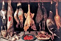 'Bodegon de aves y liebres' obra de Tomás Hiepes perteneciente a la colección.