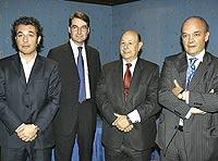 Raphaël Andrieu, Roger Cooke, Fernando García Notario, y José Luis Marcos. / BERNABÉ CORDÓN