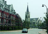 La impresionante iglesia, inspirada en la de Bristol