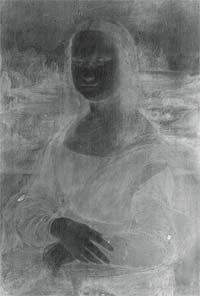 Tres técnicas de radiografía (rayos X) superpuestas permitieron discernir entre las capas de pinturas, los preparados previos del lienzo y el propio soporte.