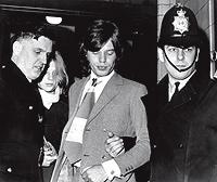 1970. Con Jagger, tras un juicio por posesión de marihuana.