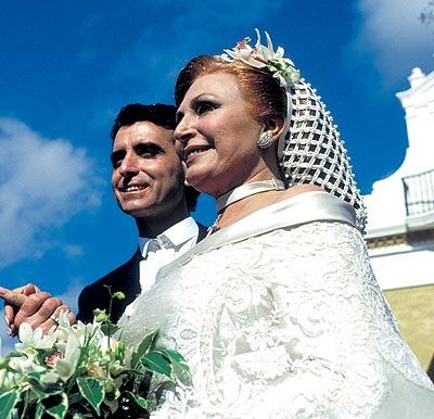 Radiante, el día de su boda con Ortega Cano, el 19 de febrero de 1.995.