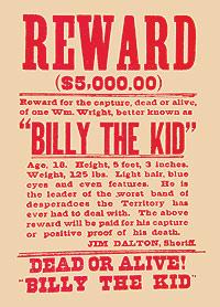 Recompensa. 5.000 dólares se ofrecían por él, vivo o muerto.