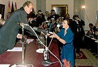 Con el rey. Medalla de las Bellas Artes.
