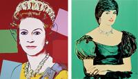 'La reina Isabel II' y 'Princesa Diana'.