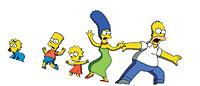 La familia Simpson al completo: Maggie, Bart, Lisa, Marge y Homer.