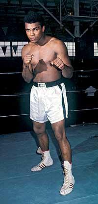 En el ring. El púgil Cassius Clay fichó por Adidas.