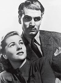 """Éxito. Olivier y Joan Fontaine como los señores Winter en """"Rebeca"""", de Hitchcock."""