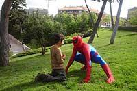 Santiago siempre sintió predilección por Spiderman.