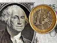 Los iconos del dólar y la moneda europea, frente a frente. / AP