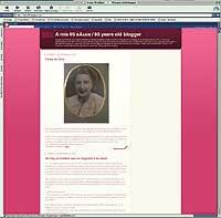 'On line'. Tres extractos del blog de María Amelia, iniciado hace un año.