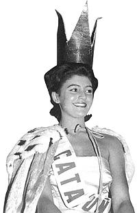 Tita Cervera, recién coronada como Miss España, certamen al que concurrió como Miss Cataluña. (Foto: Cover)