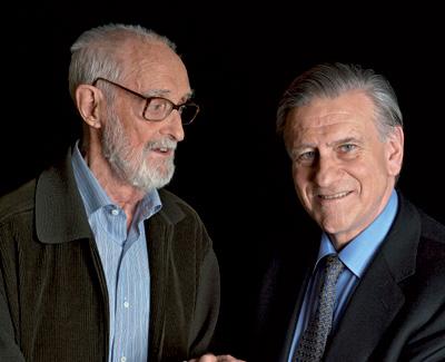 Amigos. El escritor José Luis Sampedro (izq.), 91 años, junto al doctor Valentín Fuster, de 65.