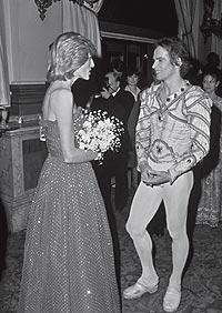 CHARLA REAL. Diana de Gales conoce a Nureyev en el Covent Garden de Londres (1982).