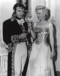Viejos amigos. Como Napoleón junto a Marlyn Monroe en 1954.