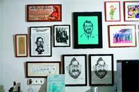 Rajoy disfruta coleccionando caricaturas sobre sí mismo.