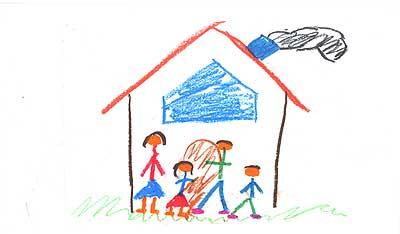 La familia. La mayoría vive en un hogar unido, integrado por su padre, su madre, un hermano y él