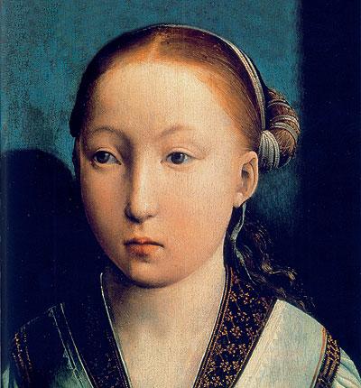 Bella y rolliza. Catalina, vista por Juan de Flandes en 1496 (Museo Thyssen Bornemisza).