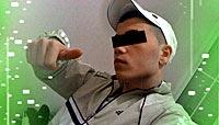 'El Isra' (16 años). Uno de los líderes de la banda, en un típico gesto de desafío.